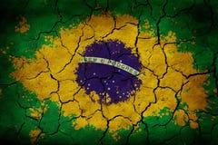 vektor för stil för tillgänglig brazil flagga glass Royaltyfri Bild