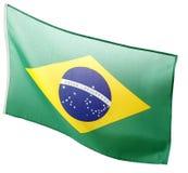 vektor för stil för tillgänglig brazil flagga glass Royaltyfria Bilder