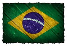 vektor för stil för tillgänglig brazil flagga glass Arkivbild