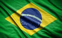 vektor för stil för tillgänglig brazil flagga glass flagga på bakgrund Arkivbild