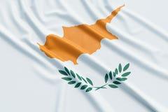 vektor för stil för tillgänglig cyprus flagga glass vektor illustrationer