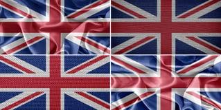 vektor för stil för tillgänglig england flagga glass Arkivbilder