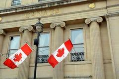 vektor för stil för tillgänglig Kanada flagga glass Royaltyfri Fotografi