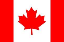 vektor för stil för tillgänglig Kanada flagga glass Arkivbild