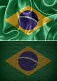 vektor för stil för tillgänglig brazil flagga glass Royaltyfri Fotografi