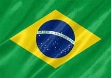 vektor för stil för tillgänglig brazil flagga glass stock illustrationer