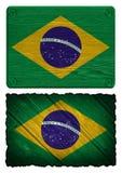 vektor för stil för tillgänglig brazil flagga glass Royaltyfri Foto