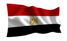 vektor för stil för tillgänglig egypt flagga glass En serie av `-flaggor av världen ` Landet - Egypten flagga stock illustrationer