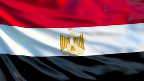 vektor för stil för tillgänglig egypt flagga glass Vinkande flagga av den Egypten 3d illustrationen stock illustrationer
