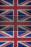 vektor för stil för tillgänglig england flagga glass Arkivbild