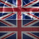 vektor för stil för tillgänglig england flagga glass Royaltyfri Bild