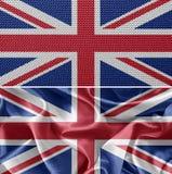 vektor för stil för tillgänglig england flagga glass Arkivfoto