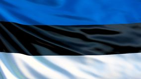 vektor för stil för tillgänglig estonia flagga glass Vinkande flagga av den Estland 3d illustrationen royaltyfri illustrationer