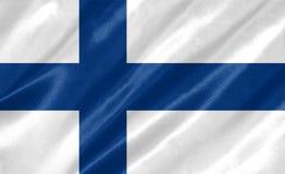 vektor för stil för tillgänglig finland flagga glass stock illustrationer