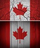 vektor för stil för tillgänglig Kanada flagga glass Arkivfoton
