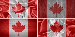 vektor för stil för tillgänglig Kanada flagga glass Arkivfoto