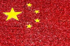 vektor för stil för tillgänglig porslinflagga glass FolkRepubliken Kina flagga som göras från blommor Royaltyfri Foto