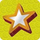 vektor för stjärna 3d royaltyfri illustrationer