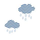 Vektor för storm för natur för regn för molnhimmelabstrakt begrepp gullig stock illustrationer