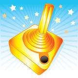 vektor för styrspak för illustration för utmärkelsegamers guld- vektor illustrationer