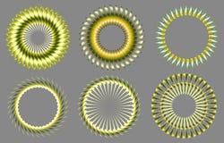 vektor för sun för designelement symboler inställd Arkivfoto