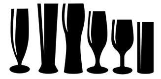 vektor för symbol för illustration för exponeringsglas för ölfärgdesign Arkivfoton