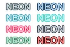 Vektor för symbol för neonneonkonst stock illustrationer