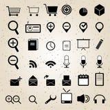 Vektor för symboler för rengöringsdukdesign fastställd Royaltyfri Fotografi