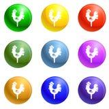 Vektor för symboler för godishanepinne fastställd vektor illustrationer