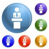 Vektor för symboler för politisk kandidat fastställd royaltyfri illustrationer