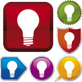 vektor för symbolslightbulbserie Arkivfoto