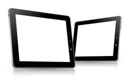 vektor för tablet för datorillustration set Arkivfoto