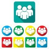 Vektor för teamwork för gruppfolksymboler fastställd Royaltyfria Bilder