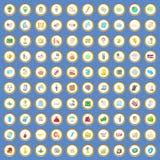 vektor för tecknad film för 100 försäljningssymboler fastställd Royaltyfri Foto