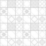 vektor för tegelplattor för sexhörningsmodell seamless Royaltyfri Bild