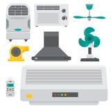 Vektor för temperatur för teknologi för fan för klimat för ventilator för utrustning för luftkonditioneringsapparatairlocksystem  Royaltyfri Bild