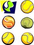 vektor för tennis för bolldiagrambilder Royaltyfria Foton