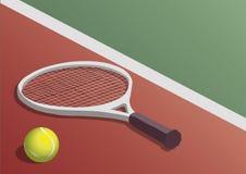 vektor för tennis för bollillustrationracket Fotografering för Bildbyråer