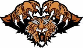 vektor för tiger för logomaskot pouncing royaltyfri illustrationer