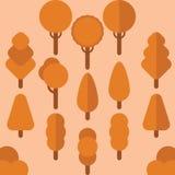 Vektor för trädhöstlägenhet royaltyfri bild