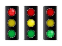 vektor för trafik för illustrationteckensignalering Arkivbild