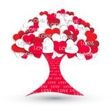 vektor för tree för förälskelse för hjärtaillustrationjpg röd Arkivbilder