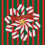 vektor för tree för fluffiga prydnadar för hälsning för jul för bakgrundsbokehkort naturliga röd Fotografering för Bildbyråer