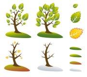 vektor för tree för illustrationsäsongsymboler royaltyfri foto