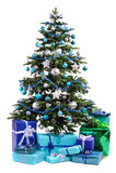 vektor för tree för julgåvaillustration Fotografering för Bildbyråer