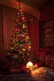 vektor för tree för julgåvaillustration Arkivbild