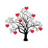 vektor för tree för symbol för hjärtaillustrationförälskelse Arkivbilder