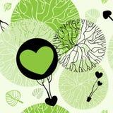 vektor för trees för grön natur för bakgrund seamless Royaltyfria Bilder