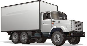 vektor för tung lastbil för lastleverans Fotografering för Bildbyråer