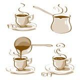 Vektor för turkiskt kaffe vektor illustrationer